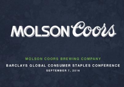 Aandeel Molson Coors Brewing Comp  financien, balans